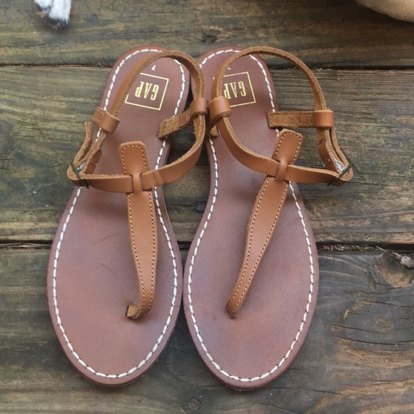 0132402db GAP Shoes - GAP brown leather sandals